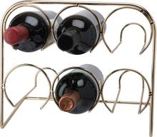 Vinställ mässing 6 flaskor 29*25,5*19 cm