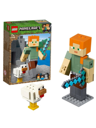 Minecraft 21149 Minecraft™ stor Alex-figur med høne - Proshop