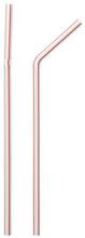 Sugrör Jumbo böjbara vita och röda 250 st 21 cm
