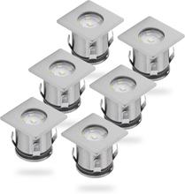 Smartwares LED-jordspotlys 6 stk 0,36 W krom 5000.476