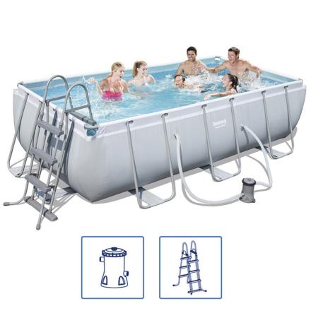 Bestway Power Steel svømmebassinsæt stålramme 404x201x100 cm 56441