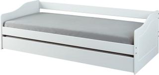 Malsu seng 90x200 cm med 1 udtræks seng hvid.