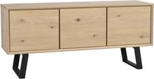 Melville sideboard Vitpigmenterad/svart 160 x 45 cm