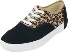 TOMS - Leopard Cordones Indio Casual Lace-Up -Sneakers - svart