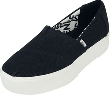 TOMS - Black Heritage Alpargata Boardwalk Slip-On -Sneakers - svart