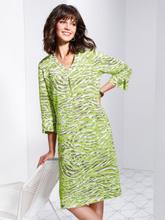 Klänning i 100% linne från Basler grön