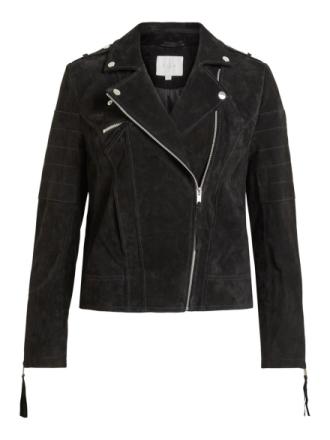 VILA Suede Jacket Women Black
