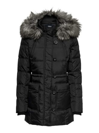 ONLY Quilted Coat Women Black