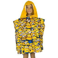 Minions Kids Double Sided Hooded Towel Poncho 100*50 cm - wupti.com