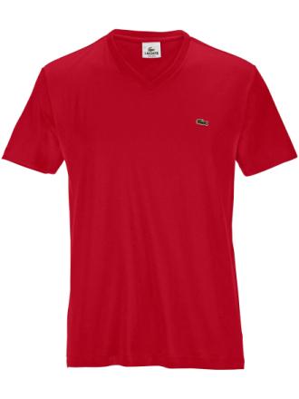 Kortærmet V-shirt Fra Lacoste rød - Peter Hahn