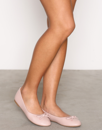 NLY Shoes Ballerina Dusty Pink