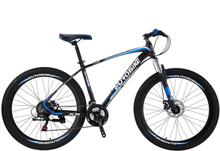 """Mountain bike 27,5"""" X5 - sykkel med 21 gir - sort / blå"""