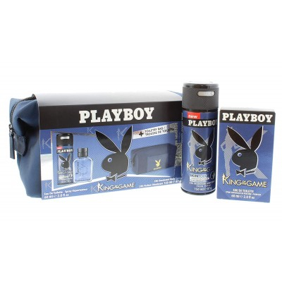 Playboy King Of The Game EDT & Deospray & Bag 60 ml + 150 ml + 1 kpl