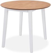 vidaXL Jatkettava Ruokapöytä Pyöreä MDF Valkoinen