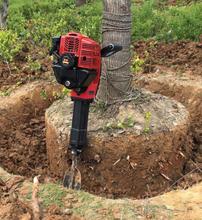 Multi-function tree-digging machine,seedling-raising machine,oil pickaxe drill bit earthball digger,ditching,broken stone