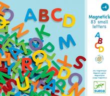 83 magnetiska bokstäver - VERSALER A-Z (från Djeco)