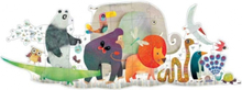 Djeco golvpussel - Animal Parade (36 bitar)
