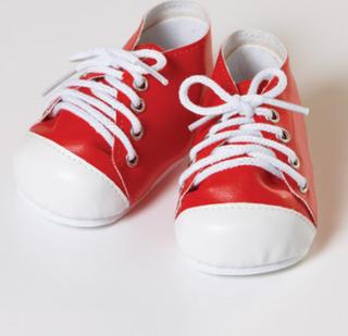 Docktillbehör - tennisskor (röd/vit)