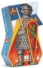 Djeco Silhuettpussel - Riddaren och draken (36 bitar)