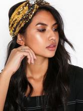 NLY Accessories Sequin Headband Gull/Sølv