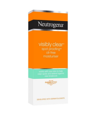 Neutrogena Visibly Clear Spot proofing Oil Free Moisturiser Transparent