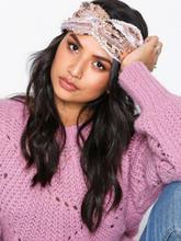 NLY Accessories Sequin Headband rosa/hvit