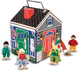 Hus med lås och ringklockor