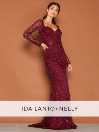 NLY Eve Flora Dress Maxiklänningar