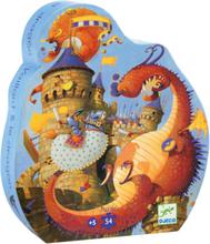 Silhuettpussel - Valliant och draken (54 bitar)