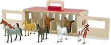 Stall med 8 hästar