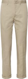 Slim-fit Stretch-cotton Gabardine Trousers - Tan