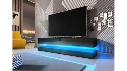 Tv-bord FLY - 140cm hengende på vegg - sort