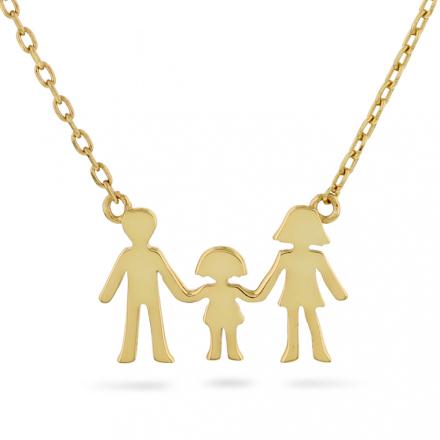 Familie - Smykke i sølv en jente