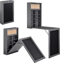[en.casa]® Kokoontaitettava pöytä - tummanharmaa-156x50x91,5cm