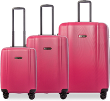 Epic Pop Neo 3-set hårda resväskor, 4 hjul, 55/65/75 cm, Lila