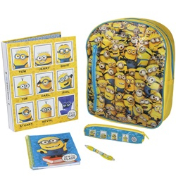5 i 1 MINIONS Filled Backpack 38 x 30 x 10 cm - wupti.com