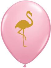 25 stk Rosa Ballonger med Flamingo Motiv 28 cm