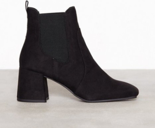 New Look Suedette Square Toe Heeled Chelsea Boots