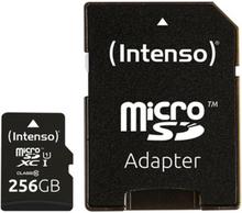 Mikro-SD-hukommelseskort med adapter INTENSO 3423492 256 GB Sort