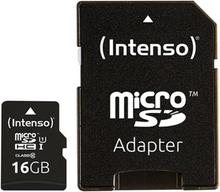 Mikro-SD-hukommelseskort med adapter INTENSO 34234 UHS-I Premium Sort 32 GB