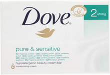 Dove Pure & Sensitive Fast Tvål 2 x 100 g