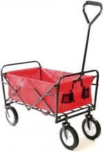 Trækvogn foldbar - rød