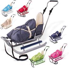 Luksus metal slæde med stol og varme pose.