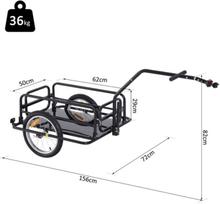 Cykelanhænger sort 36 kg