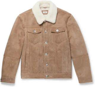 Shearling Trucker Jacket - Sand