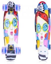 Fish Skateboards Pennyboard Face 22'', silver, ArtFish Pennyboard
