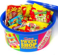 Swizzels Sweet Shop Tub 750 gram - Gaveeske med Forskjellig Godteri