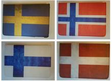 Fodral iPad Mini 360 rotation FLAGGOR Norge