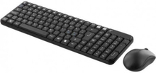 DELTACO trådlöst tangentbord och mus, USB nano mottagare 10m