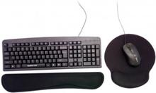 Musmatta och tangentbords ergonomsikt handledsstöd